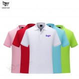 ポロシャツカスタム無地Tシャツ綿作業服半袖カスタム刺繍広告シャツDIYプリントロゴ