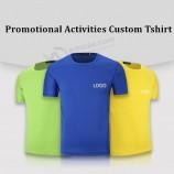 安いプロモーション広告TシャツマラソンスポーツDriフィットメッシュTシャツカスタム