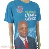 卸売広告Tシャツ選挙プロモーションアイテムカスタムシャツスクリーン印刷Tシャツ