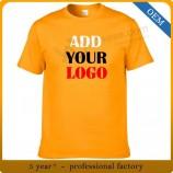 卸売男性安い綿/ポリエステル広告プロモーション印刷Tシャツ