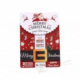 축제 인사 선물을위한 크리스마스 3D 합판 주문 엽서