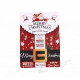 christmas 3D plywood custom postcard for festival greeting gifts