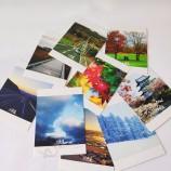 печать бумажных открыток высокого качества на заказ, печать открыток с благодарностью