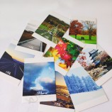 사용자 정의 고품질 종이 엽서 인쇄, 사용자 정의 감사 카드 엽서 인쇄