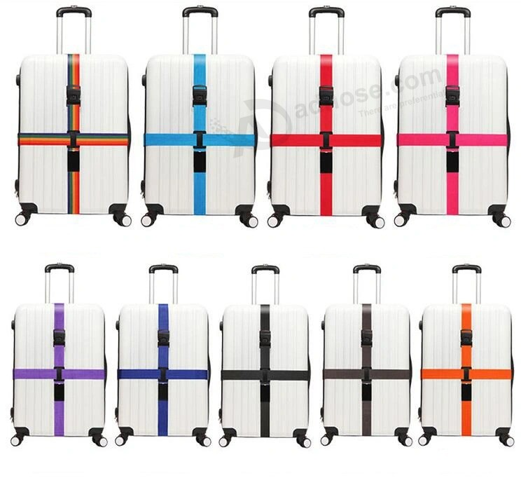 High Quality Cheap Cross Rainbow Elastic Telescopic Bag Bungee Luggage Packing Belt Travel Luggage Fixed Strap (ESG11036)