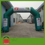 Stock Green Color PVC Material Inflatable Arch with Blower