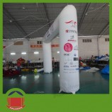 White Color Sqaure Inflatable Arch with Full Printing