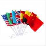 Custom Hand Held Flag National Shaking Flag with Plastic Pole
