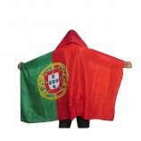 Custom Polyester Sport Fans National Poncho Cape Wearable Flag