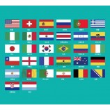 Russia 2020 World Cup Top 32 National Flags Spot Stock Clearance Cheap Processing World Cup National Flags