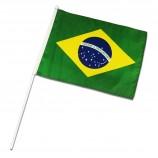 Custom Brazil Hand Flag Brazil National Day Table Banner China Factory Brazil Promotion Flag