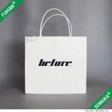 белая бумага с тисненым логотипом упаковка сумка для рубашки