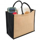индивидуальная джутовая перерабатываемая упаковка льняная промо-сумка для хранения путешествий рогожка по