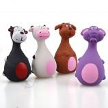 재미 있은 동물 세트 상호 작용하는 놀이 유액 시끄러운 개 장난감은 애완 동물을위한 장난감을 씹습니다