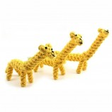 動物キリン綿犬ロープおもちゃペット用品卸売ペット噛むおもちゃ