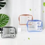 PVC 화장품 가방 중국 공장, 사용자 정의 인쇄 메이크업 세면 용품 케이스 주최자, 방수 휴대용 아티스트 여행을위한 스토리지 가방을 구성