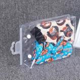 2020new 컬러 인쇄 도착 투명 PVC 방수 포장 가방 양말 / 속옷 후크