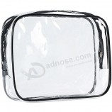 Прозрачная дорожная сумка для ручной клади, модная сумка для авиалиний, сумка для макияжа из ПВХ с упаковкой