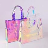 zoras amazon - удобная стильная голографическая сумка для покупок из ПВХ в горячем стиле