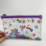 홀로그램 패션 화장품 가방, 휴대용 PVC 여행 지퍼 작은 여성 메이크업 가방