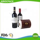 бумажная этикетка для бутылки вина для бокала