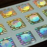 위조 방지 보안 위조 방지 홀로그램 접착 바코드 스크래치 스티커 라벨