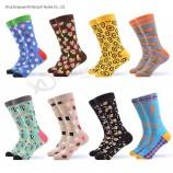wholesale OEM изготовленные на заказ хлопковые модные мужские красочные забавные счастливые носки