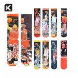сублимационные печатные спортивные баскетбольные старт крутые мужские носки
