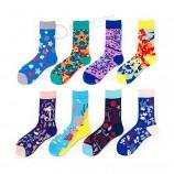 Носки на заказ для взрослых, высокие эластичные дышащие спортивные носки из хлопка, модные женские и мужские