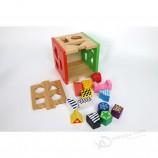 木製の形並べ替え幾何学ゲームの形ビルディングブロックマッチング認知おもちゃ子供教育おもちゃwodenモンテッソーリ