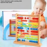 деревянные бусины Монтессори счеты детские математические подсчета обучающие игрушки (GY-w0080)