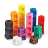 플라스틱 정렬 작은 큐브 블록 장난감 세트 계산 광장 빌딩 블록 장난감 교육 학습 장난감