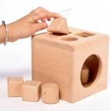 비 독성 블록 큐브 장난감을 정렬 나무 유아 어린이 교육 모양 (GY-w0078)