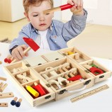 Рождественский подарок для детей, деревянный плотник, набор деревянных ролевых игрушек (GY-w0088)