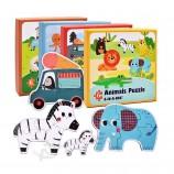 ジグソーパズルボードおもちゃの開発を学ぶ子供たちのためのカラフルな教育玩具を設定します