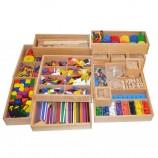Оптовая деревянные сенсорные материалы Монтессори, развивающие игрушки для детей