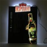주문품 잘 고정 된 LED 아크릴 호리 호리한 광고 가벼운 상자