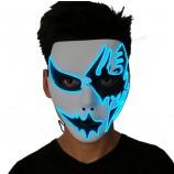 ハロウィンLEDマスクが怖いマスクを照らします