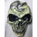 중국 도매 현실적인 무서운 거품 PU 얼굴 두개골 할로윈 마스크