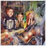 ハロウィーンの屋内/屋外装飾用のストレッチクモの巣