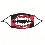 スキンケア用マスク2020トップマスクユニセックス調節可能な防風再利用可能なハロウィーンプリントフェイスマスクフェイスマスクマスカリラ