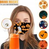 ハロウィーンマスク飲用の目に見えないプラグ