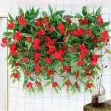 70cm 도매 가짜 플라스틱 impatiens 인공 꽃 decoraton
