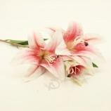 美しい造花ユリスプレー装飾花Dy1-2732