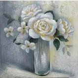 ポット手作り油絵写真ポップアート絵画壁アート装飾とモダンな花