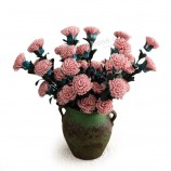 バラの絹の花の模倣造花