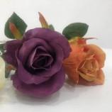 装飾やギフトのためのカラフルな人工花バラ色のつぼみ