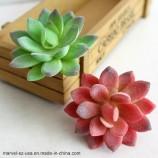 クリーム蓮の風景装飾的な人工多肉植物偽の花