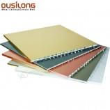 장식적인 실내 나무로되는 알루미늄 벌집 패널 옥외 다채로운 알루미늄 벽 널