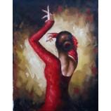 Репродукция ручной работы fabian perez танцующая дама холст картины маслом